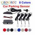 Car LED Parking Sensor Kit Display 4 Sensors 8Colors For Multi Brand Cars Double Reverse Assistance Backup Radar Monitor System