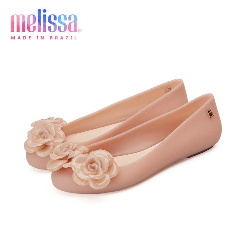 Melissa Space 3D Flower 2020 New Women Flat Sandals Brand Melissa Shoes For Women Jelly Sandals Female Jelly Shoes Mulher