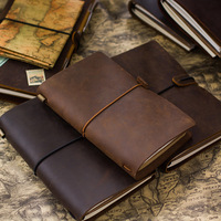 100 Handmade Genuine Leather Notebook Vintage Diary Traveler S Notebook Planner For Kids Gift