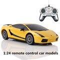1:24 дистанционного управления автомобилем модели, моделирование электрический спортивный автомобиль, пластиковые diecasts, toy транспорт, educational toys gifts, бесплатная доставка