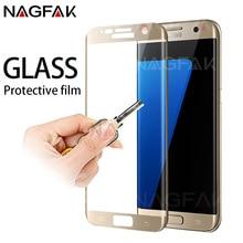 NAGFAK vidrio Protector para Samsung Galaxy S7 S6 Edge Protector de pantalla templado 3D borde curvo vidrio para Samsung S7 película