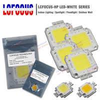 LED de alta potencia Chip COB 10 W 20 W 30 W 50 W 100 W SMD luz blanca pura caliente para DIY 10 20 30 50 100 W vatios al aire libre LED Foodlight