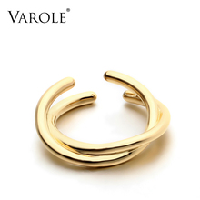 VAROLE Hight Quality Copper Gold Rings for women jewelry New Arrival Silver Best Christmas Gift