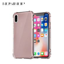 ROSINOP Airbag Transparent TPU Case For iphone 7 6 8 Original Anti-knock Soft Full Covers xs max x xr