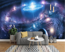 beibehang 3d modern simplicity starry universe constellation wall painting backgroun  papel de parede wallpaper hudas beauty