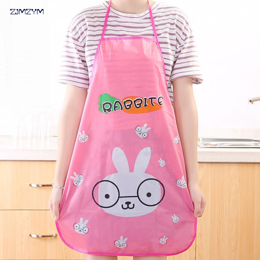 1pc Waterproof PVC Kawaii Doraemon Adult Ladies Kitchen Cooking Aprons Cartoon Novelty