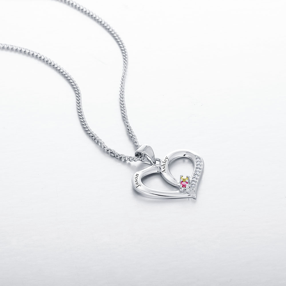 61492a57b4 Personalized Birthstone Name Necklace 925 Sterling Silver ...