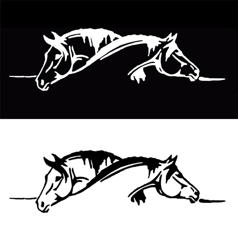 Car Sticker Waterproof sticker Suitable for all cars Creative Two Horses Graphic Car Sticker And Funny Animal Decal Car Style-in Car Stickers from Automobiles & Motorcycles