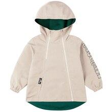 Biniduckling ファッションキッズボーイズ春ジャケットコート子供固体洋服フード付きジッパーボーイズコートウインドブレーカーアウター