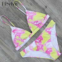 ABOUTTHEFIT 2017 Sexy Women Triangle Bikini Swimwear Swimsuit Retro Push Up Padded Bathing Suit Beachwear Push