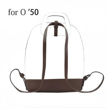2019 New Slim Soft PU Leather Buckle Strap Bottom Backpack belt for Obag 50 O Bag - discount item  9% OFF Bag Parts & Accessories