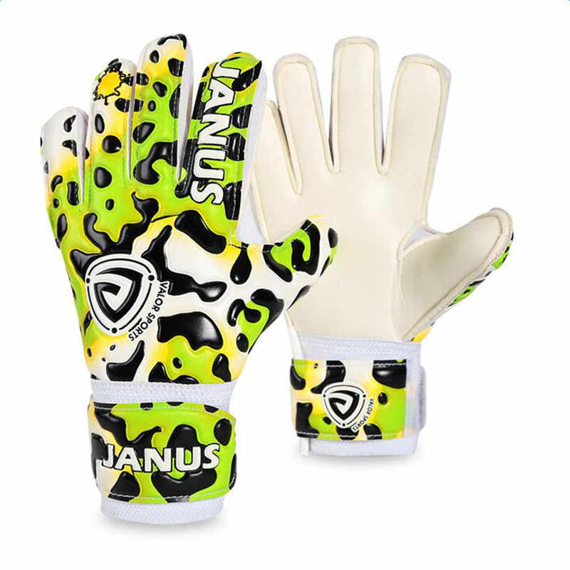 Profesjonalne dzieci rękawice bramkarskie zagęszczony lateksowe Leopard drukuj chłopcy piłka nożna bramkarz rękawice bramkarskie piłkarskie dla dzieci