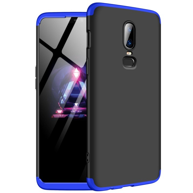 GKK Case for Oneplus 6 Case 360 Full Protection Shockproof Matte Comfortable Feel Hard PC 3 In 1 for oneplus6 Cover Free Glass 4