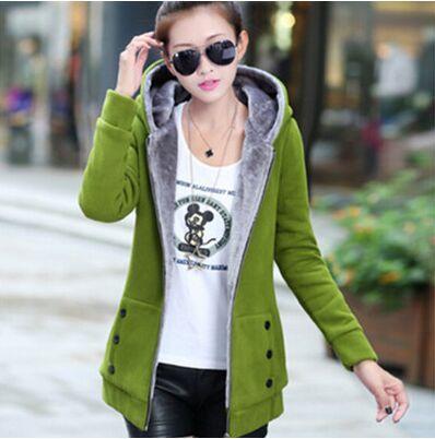 Más el tamaño S-3XL casacas mujer 2017 mujeres de la manera de terciopelo chaque