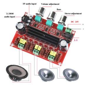 Image 2 - Lusya TPA3116D2 2.1電源amplificador 80ワット * 2 100wサブウーファー · オーディオ · アンプ用4 8オームスピーカーD3 005