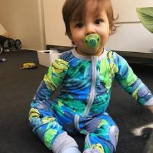 Tinyлюди Baloo банан печати сдельник для ребенка с длинным рукавом для новорожденных Комбинезон для мальчика Девочка одежда хлопок ropa bebe Детски...