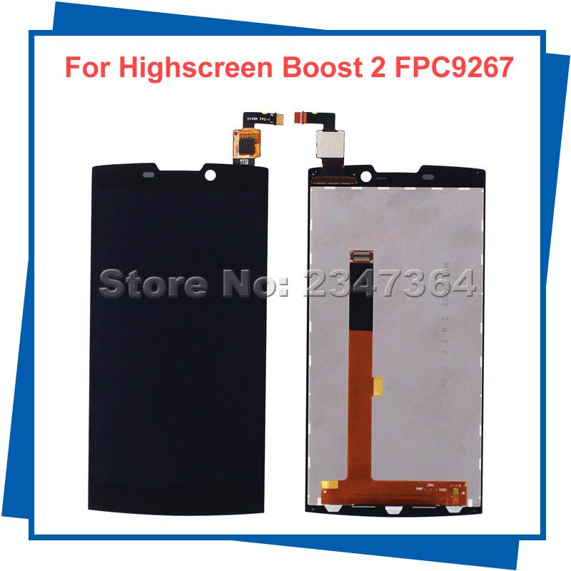 ФОТО For Highscreen boost 2 se REV.C 9267 Version Display FPC 9267 LCD Display Touch Screen Black Mobile Phone LCDs With Touch Panel