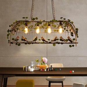 Image 5 - Vintage Bird Pendant Light Iron American Industrial LOFT Bar Cafe Personality E27 Decor Hanging Aisle Nordic Lamp birdcage lamp