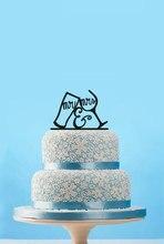 Mr & Mrs свадебный торт Топпер, жених и невеста питьевой чашки торт Toppers, смешно торт топперы, Пользовательские свадебный торт украшения