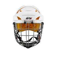 2018 Improving Ice Hockey Helmet Combo Mask face Shield Cage Steel Guard Equipment Children hockey Gear Yellow comfortable liner 2017 ce approval protection gear ice hockey helmet combo cage visor mask face shield anti fog