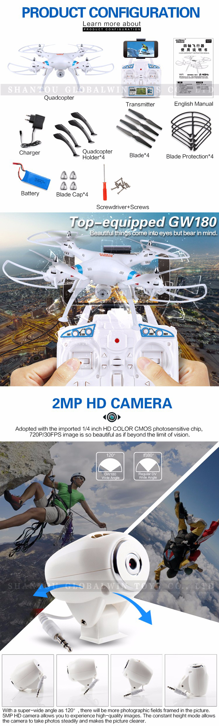 4Global Drone GW180 Dron with Camera WIFI HD FPV Hovering Quadrocopter Can Carry 4K Camera Drones