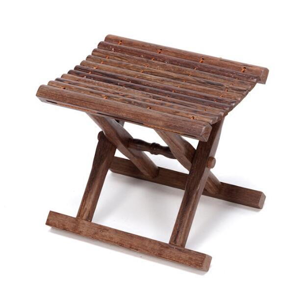 Folding Stool Bench in Solid Rosewood For Indoor/Outdoor Furniture Portable and Lightweight Foldable Small Wood Bench Stool bamboo bamboo portable folding stool have small bench wooden fishing outdoor folding stool campstool train