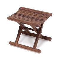 Folding Stool Bench in Solid Rosewood For Indoor/Outdoor Furniture Portable and Lightweight Foldable Small Wood Bench Stool