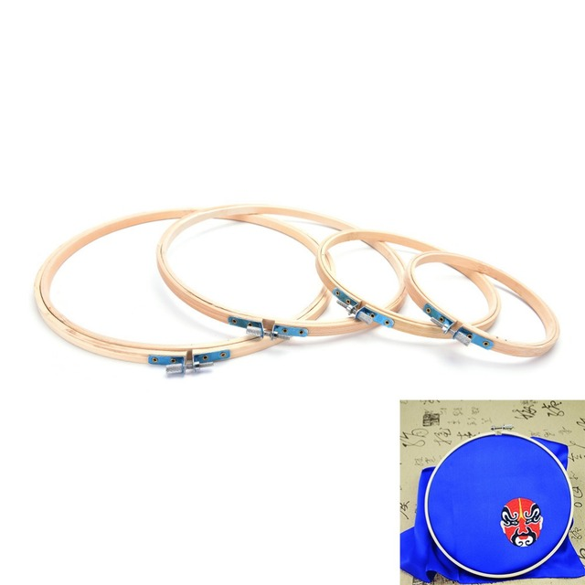 DIY Needlecraft Cross Stitch Machine Bamboo Frame Embroidery Hoop Ring Round Loop Hand Household Sewing Tools