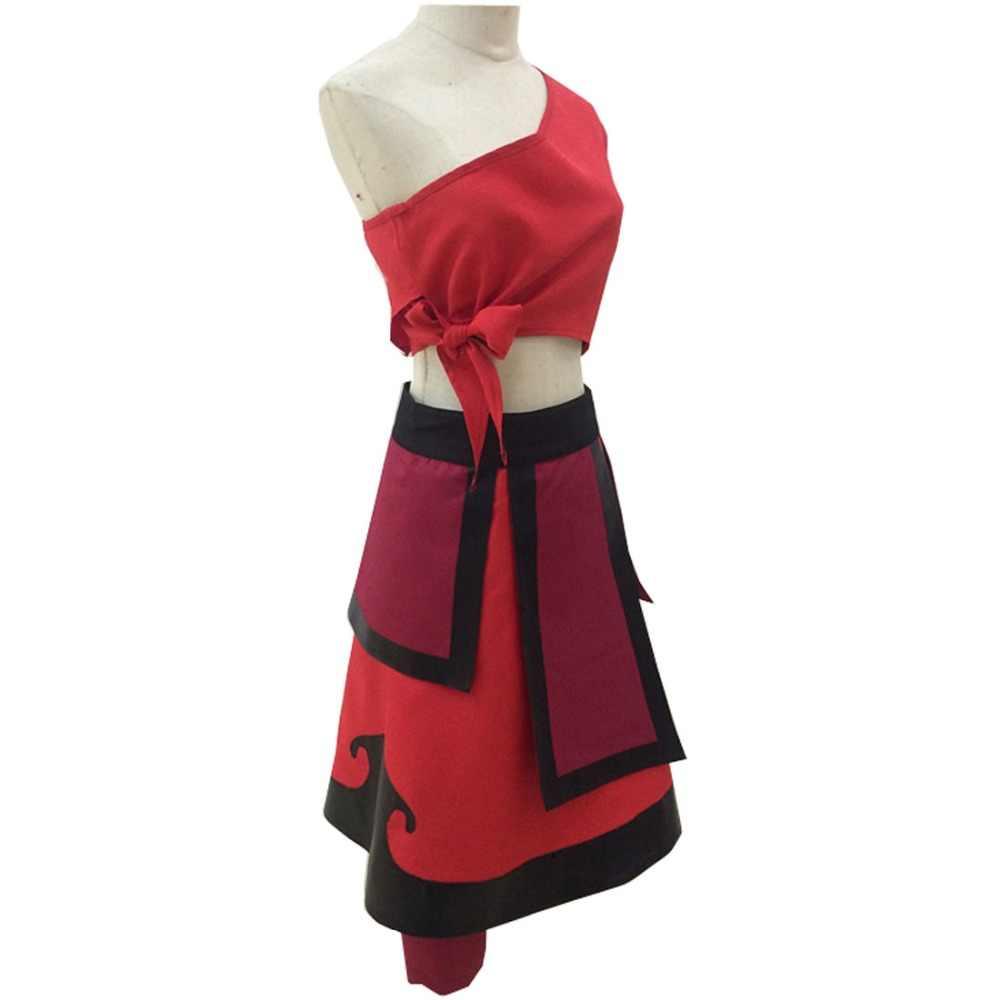2018 Катара красное платье Косплэй avatarthe об Аанге взрослого  индивидуальный заказ Топ и юбка костюм Косплэй a826776bdaeda