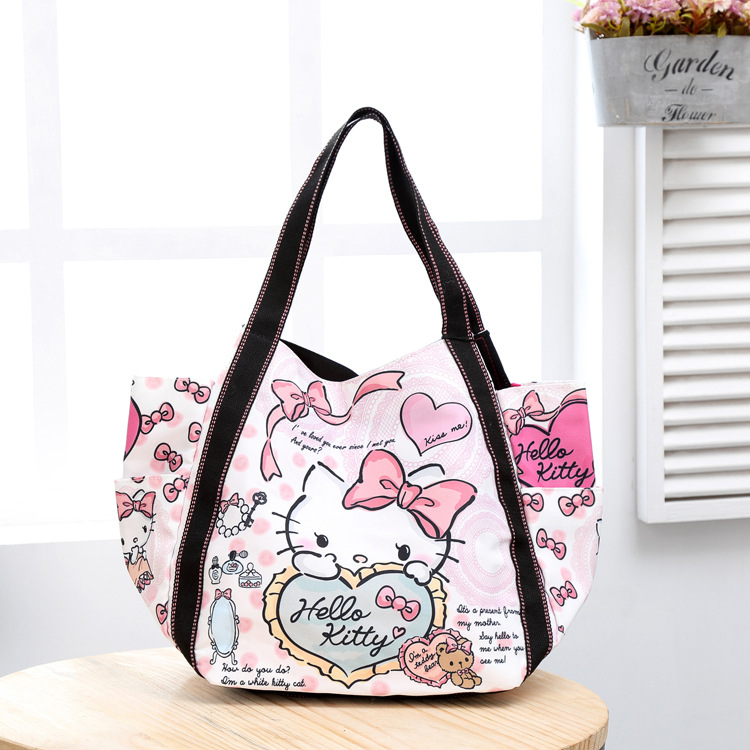 90276b17da Cartoon Hello Kitty Neverfull Crossbody Bags Designer Handbags High Quality  Fashion Tote Bag For Women Leather Handbags-in Crossbody Bags from Luggage  ...