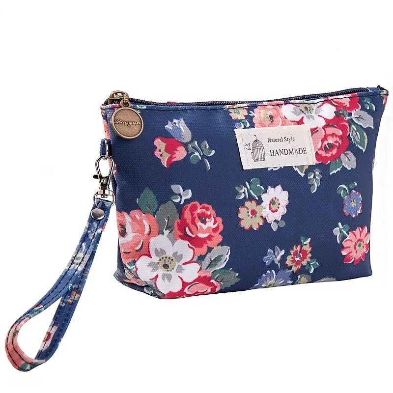 ETya Travel Make Up Bag Organizer Zipper  Flower Cosmetic Bag Women Lady Tote Washing Toiletry Makeup Pouch Bags