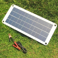 BUHESHUI 10.5W 12V Solar Panel Charger With DC Output And Accessories Semi Flexible Solar Cell Charger Waterproof Free Shipping