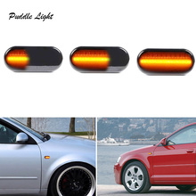 цена на LED Dynamic Side Marker Turn Signal Light for Renault CLIO I Espace III Kangoo  LagunaI Megane I Megane Scenic Opel Benz