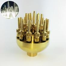 """高品質 1.0 """"DN25 1.5"""" DN40 3 層の花の噴水ノズルスプレーヘッド池入力"""
