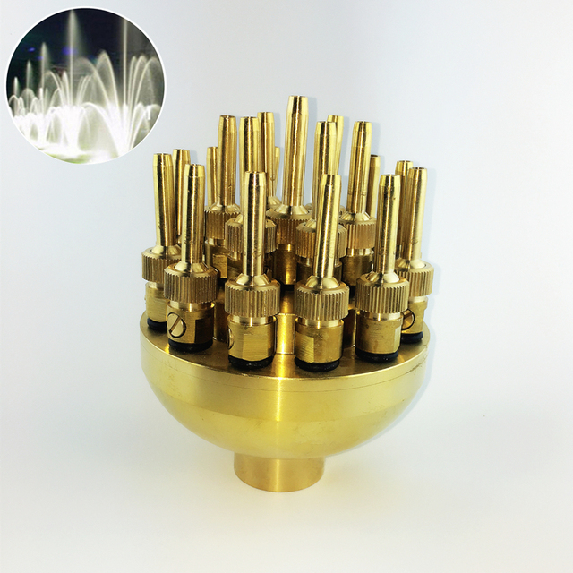 """High Quality 1.0"""" DN25 1.5"""" DN40 3 Layers Flower Typed Fountain Nozzles Spray Head Pond"""