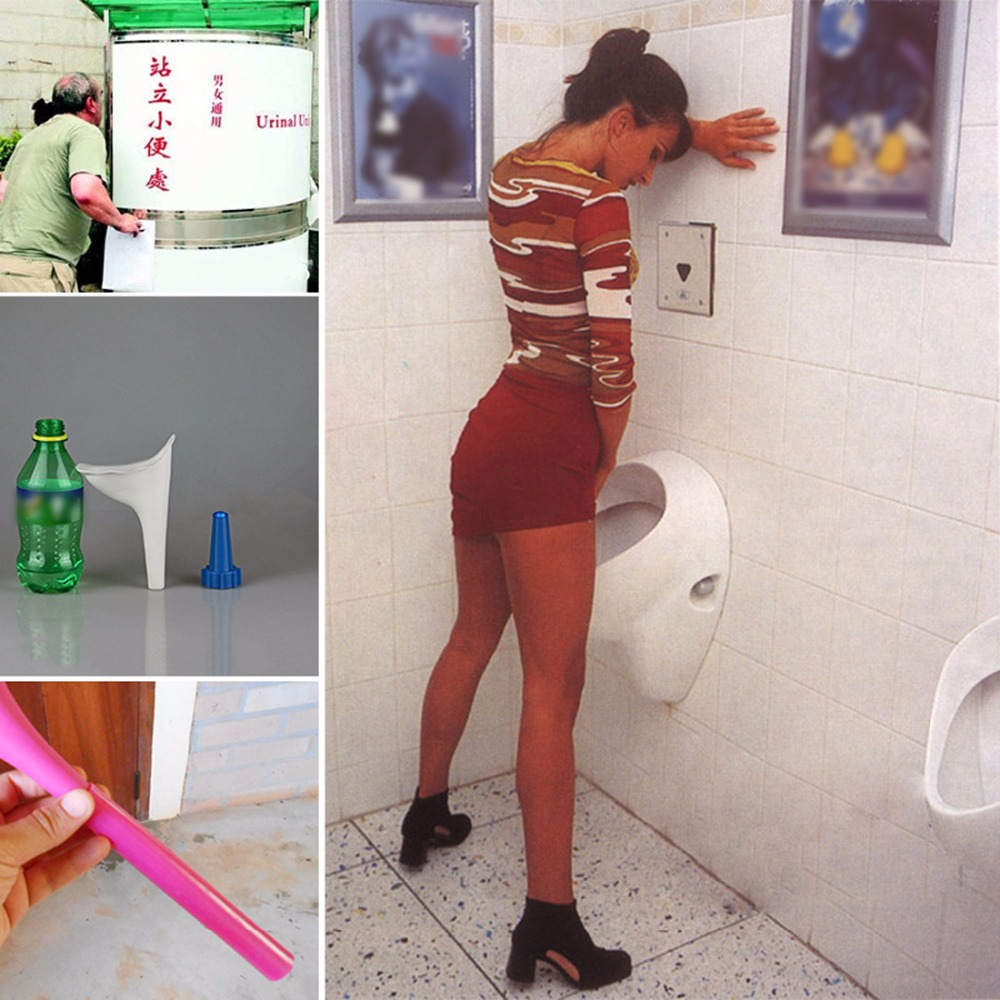 Car Portable Standing Urinal Pot  Women Female Stand UP Pee Cup Urination Device