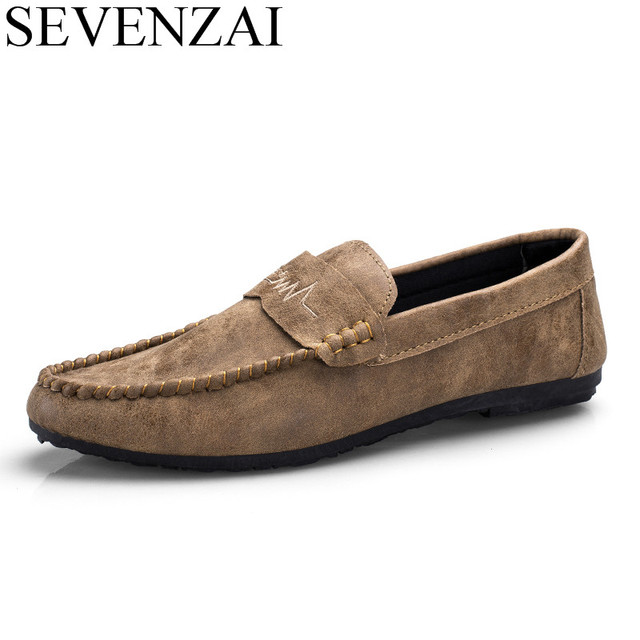 ed4f09fc3a fashion men leather casual shoes slip on soft comfortable loafers driving  moccasins homme italian boat trend flats shoes for men