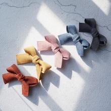 4 шт., бархатные заколки для волос с бантом, милые модные заколки для волос для девочек, женские корейские аксессуары, заколки для волос, детская одежда для головы