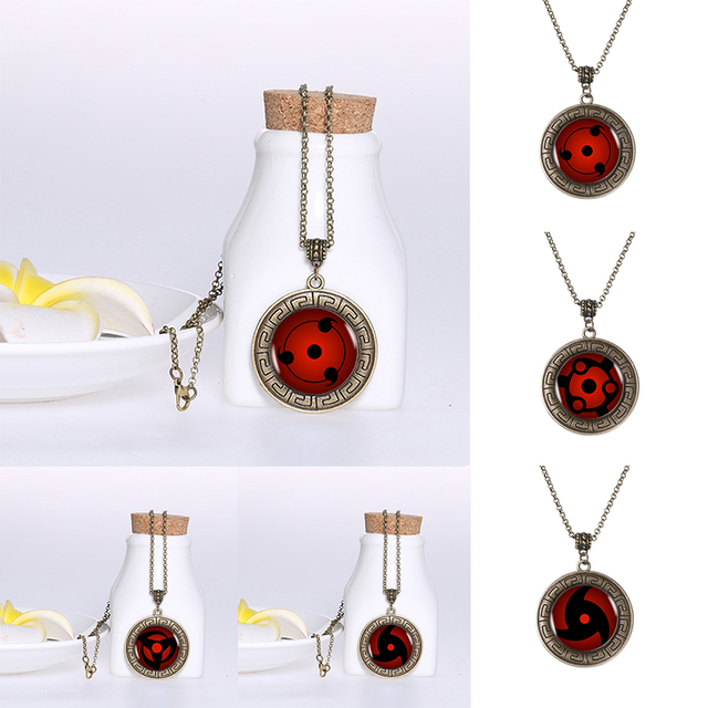 Naruto Sharingan Shippuuden Eyes Bronze Pendant Necklace