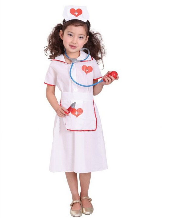 Free shipping!!Wholesale Halloween carnival costume PARTY acting clothing, children love the little nurse costumes