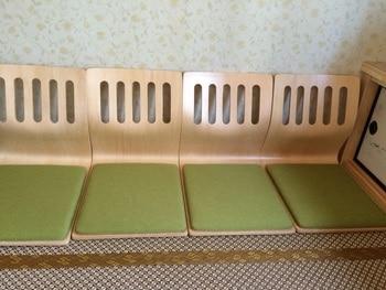 acb0c0569 (4 unids lote) Suelo de tatami japonés silla Cojines color natural Asia  tradicional Muebles diseño zaisu legless silla al por mayor
