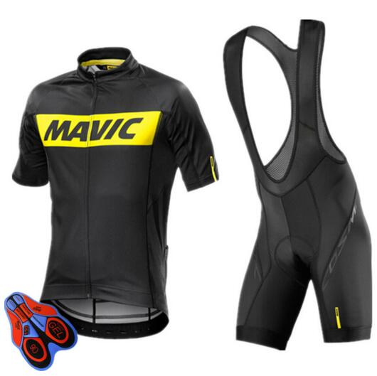 Mavic Cycling Jersey 2017 Pro Team Short Sleeves Cycling Set Bike Clothes Ropa Ciclismo Cycling Clothing Sports Suit 9D Pad
