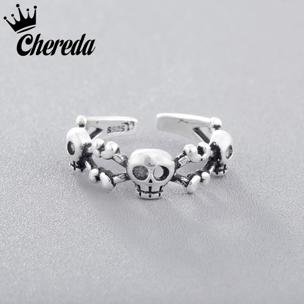 rings gothic skeleton dragon punk ring mens men silver skull size antique biker vintage jewelry rock