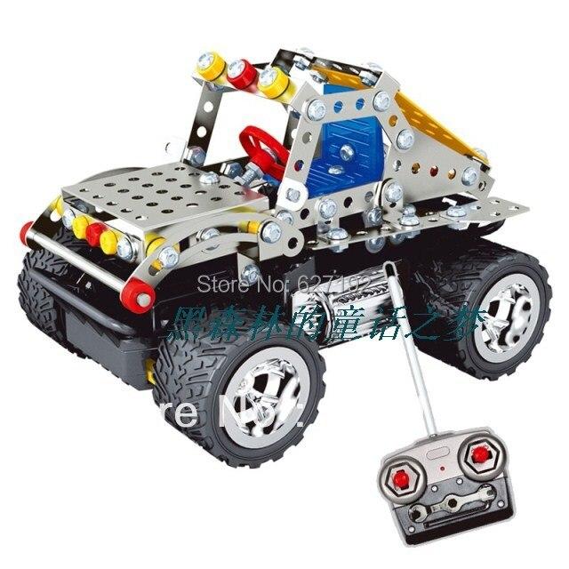 2015 venda quente Diy liga 3d montagem carros de controle remoto brinquedos educativos R / c carro Hummer C2 Toy modelo para crianças