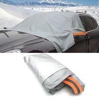 Car Half Covers Sunshade Waterproof Thicken Case Anti UV Rain Snow Sunshade Heat Protection Dustproof Outdoor