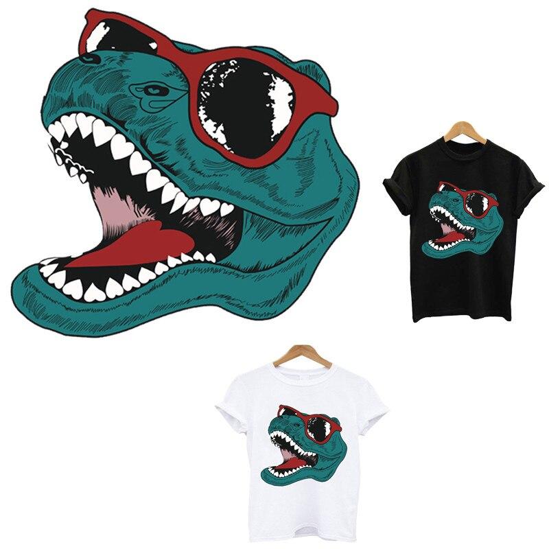 Динозавр термо-Стикеры для одежды на одежде применения одного Переводные железные для одежды термочувствительного патчи аппликация в поло...