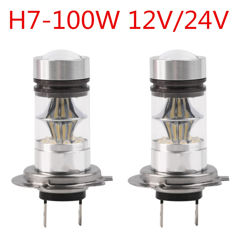 2017 Car-styling High Power Car LED Head Headlight Light Fog Light Lamp with H4 and H7  Socket 100W 2Pcs/Lot Light Free Shipping 2pcs car led headlight kit led bulb d33 h11 free canbus auto led lamps white headlamp with yellow light fog light for citroen c4
