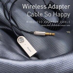 Image 2 - Baseus BA01 USB Bluetooth приемник для автомобиля 3,5 мм разъем Aux Bluetooth 5,0 адаптер беспроводной аудио музыка Bluetooth передатчик