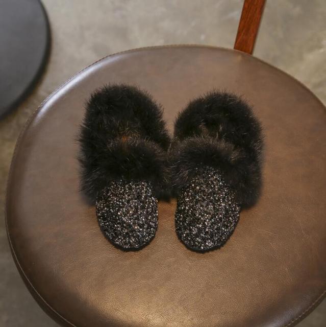 Faux Fur Glitter Boots