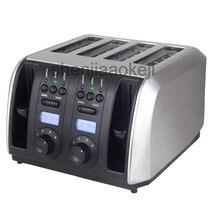 Автоматический коммерческий Электрический тостер для хлеба, завтрака, машина для завтрака, песочного хлеба, подогрева кухни, гриль, плита, 4 ломтика, тостер